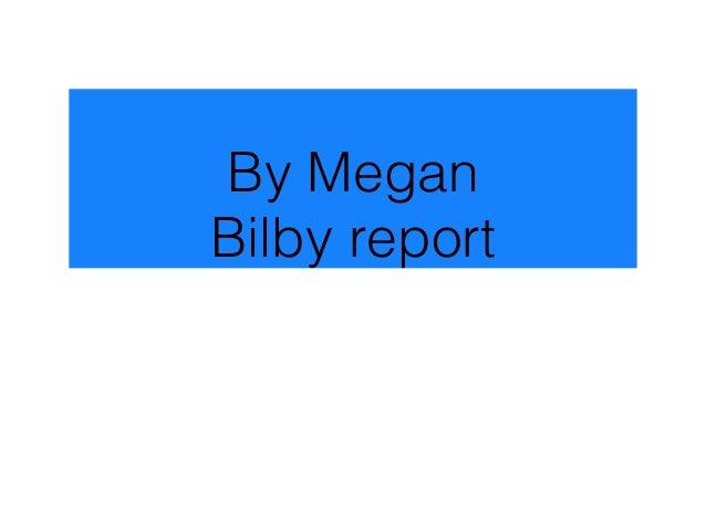 Megan bilby report