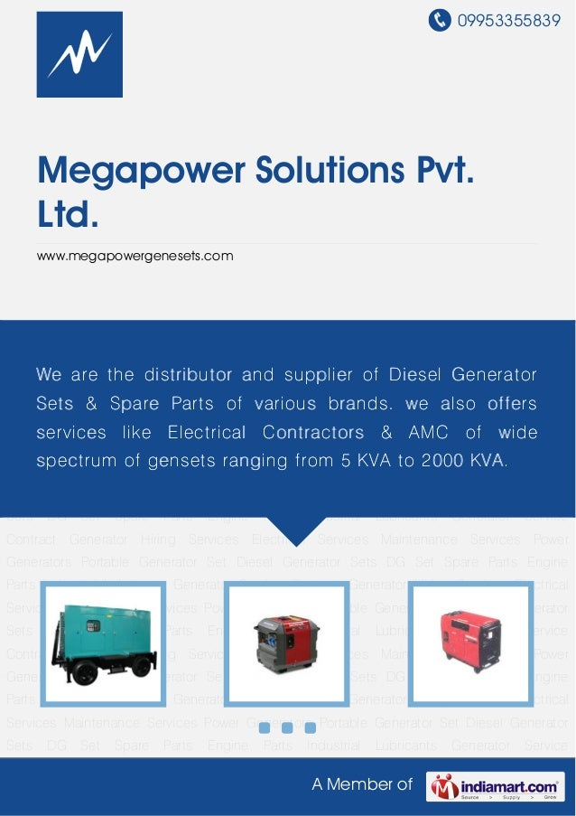 Portable Generator Set by Megapower solutions pvt ltd