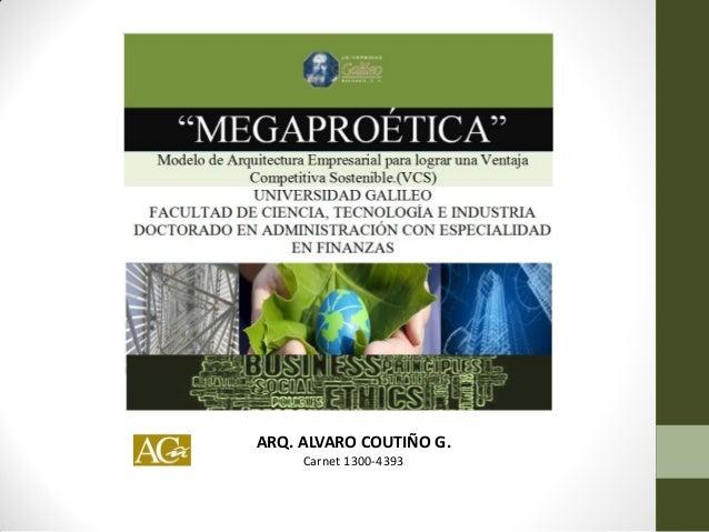 ARQ. ALVARO COUTIÑO G. Carnet 1300-4393