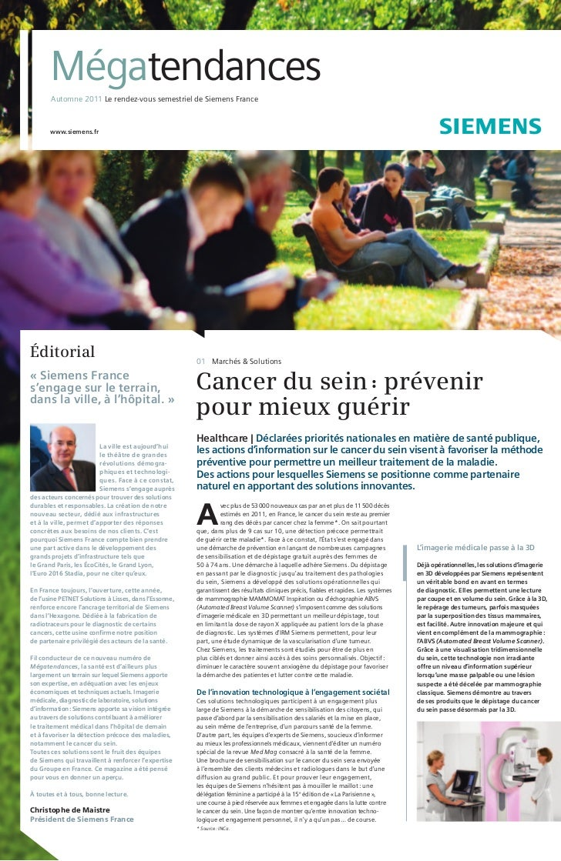 Megatendances automne 2011