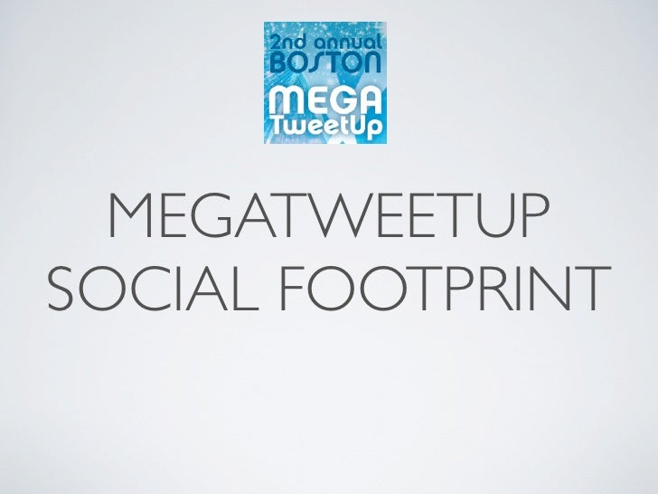 MegaTweetup Social Footprint Case Study Slides