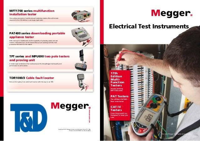 Megger Electrical Testing Instruments - Cable Fault Locators, High Voltage Detectors & Voltage Indicators
