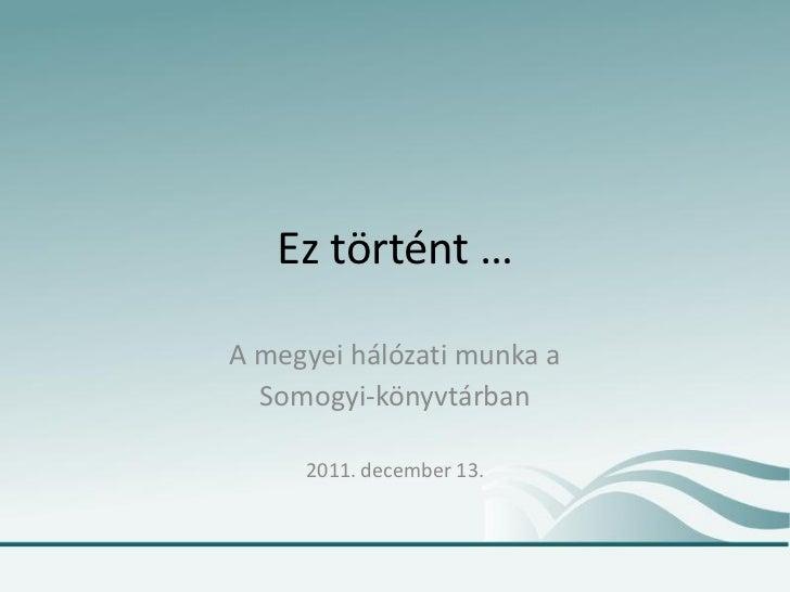 Megyeimunka 2011