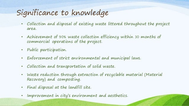 waste management thesis proposal Innovation in waste management a case study of the oslo region as an revised circular economy proposal and this thesis demonstrates examples from a region in.