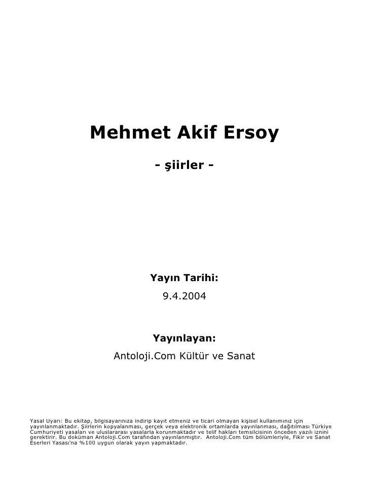 Mehmet akifersoy siir