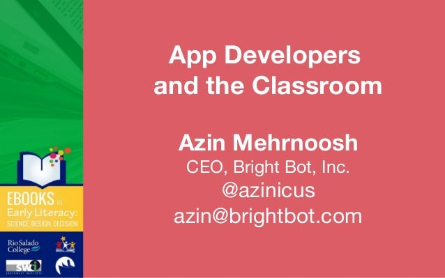 App Developers and the Classroom
