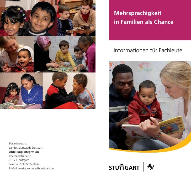 Mehrsprachigkeit                                      in Familien als Chance                                         Infor...