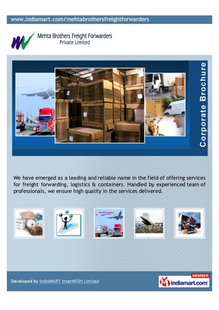 Mehta Brothers Freight Forwarders Private Limited, Navi Mumbai,  Clearing and Freight Forwarding Services.