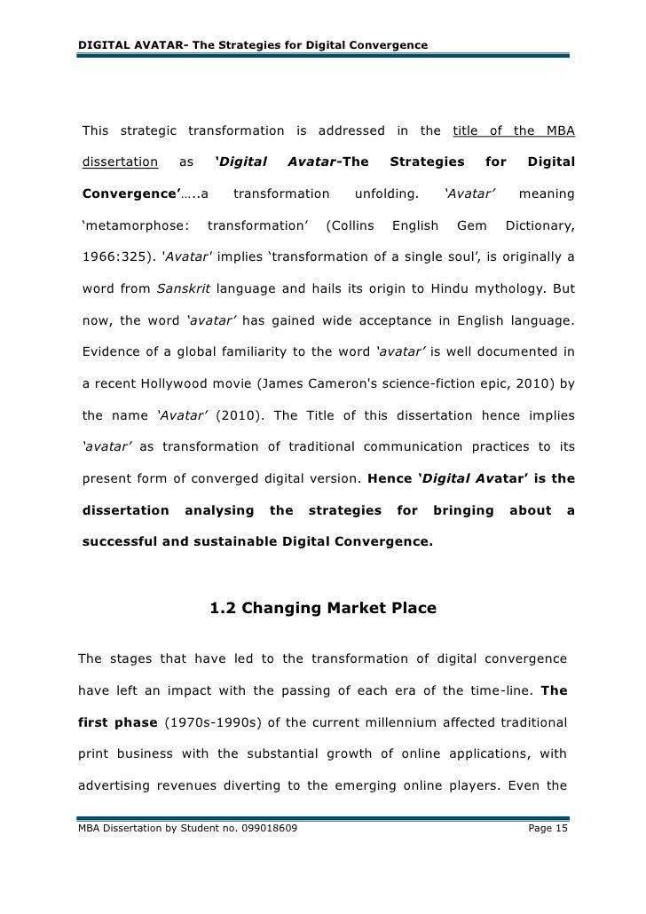 Mba dissertation title