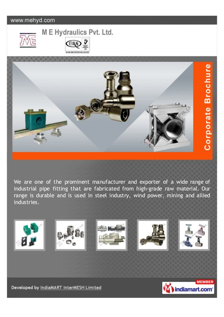 ME Hydraulics Pvt. Ltd., Thane, Pipe Clamps