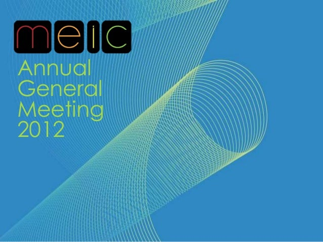 MEIC AGM 2012