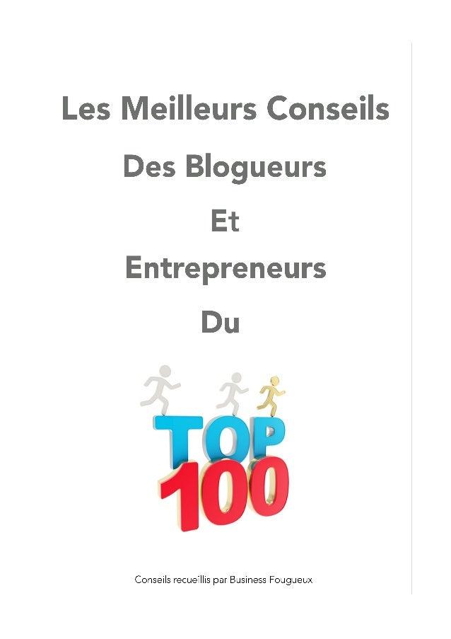 Meilleurs conseils blogueurs entrepreneurs du top 100