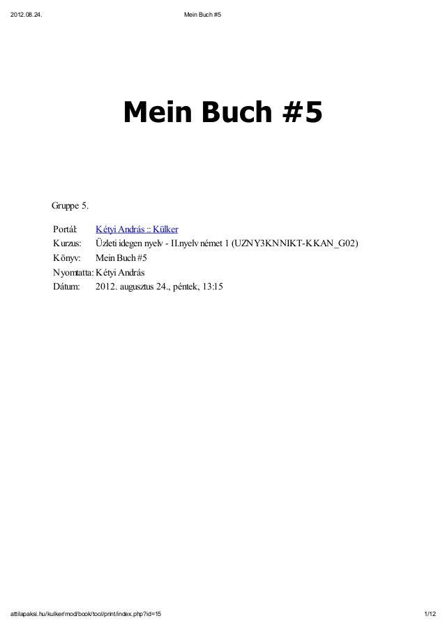2012.08.24.                                                 Mein Buch #5                                          Mein Buc...