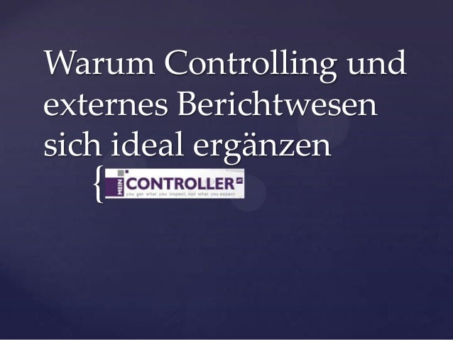 Warum Controlling und externes Berichtwesen sich ideal ergänzen  {