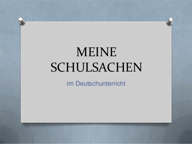 MEINESCHULSACHEN im Deutschunterricht