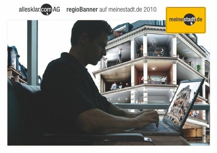 regioBanner auf meinestadt.de 2010