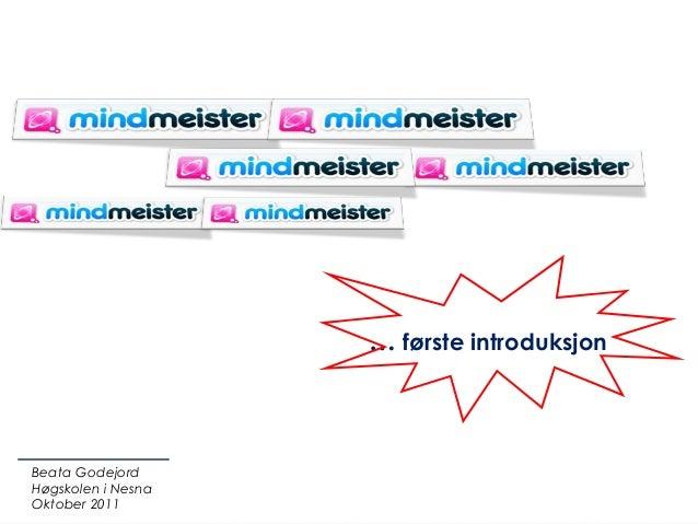 … første introduksjonBeata GodejordHøgskolen i NesnaOktober 2011