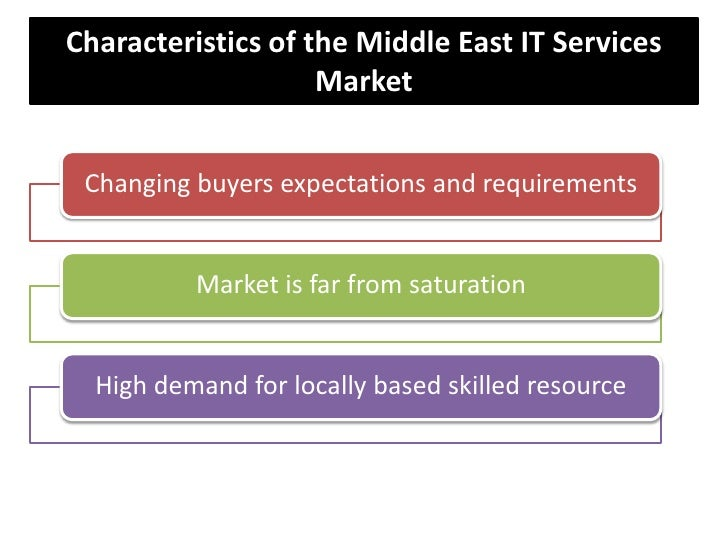 Characteristics of the Middle East IT Services Market<br />