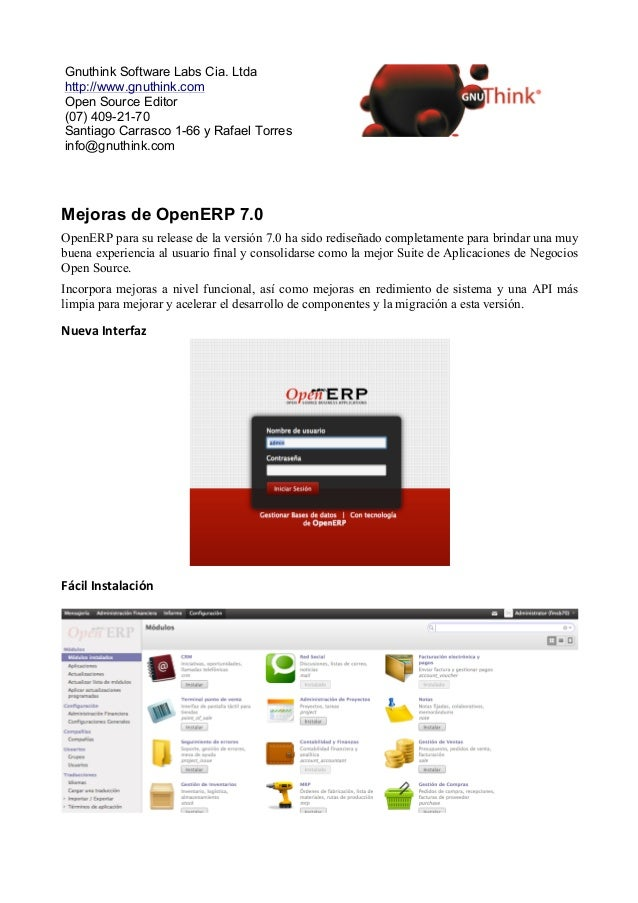 Gnuthink Software Labs Cia. Ltdahttp://www.gnuthink.comOpen Source Editor(07) 409-21-70Santiago Carrasco 1-66 y Rafael Tor...