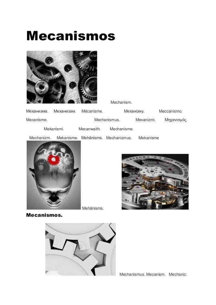 Mecanismos                                         Mechanism.Механизма.    Механизам.    Mécanisme.           Механізму.  ...