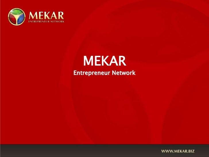 MEKAREntrepreneur Network<br />