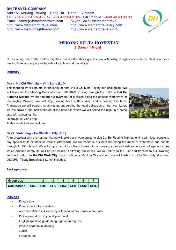 Mekong Delta Homestay 2 Days   1 Night