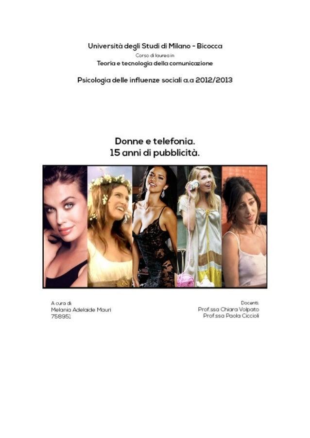 Donne e telefonia. 15 anni di pubblicità.