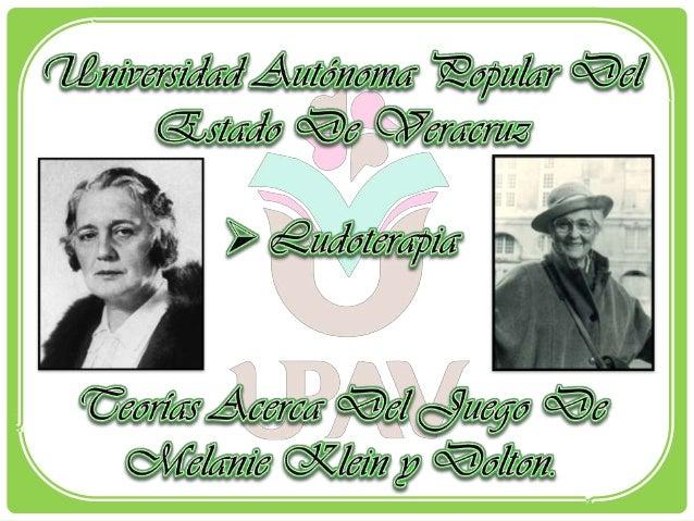  Melanie Reizes Viena; 30 de marzo de 1882 - Londres; 22 deseptiembre de 1960. Fue una psicoanalista austriaca, creador...