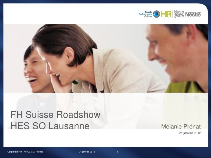 FH Suisse Roadshow  HES SO Lausanne                                       Mélanie Prénat                                  ...