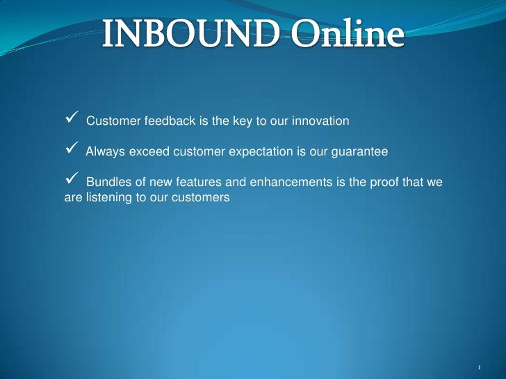 InboundOnline - Anytime Anywhere