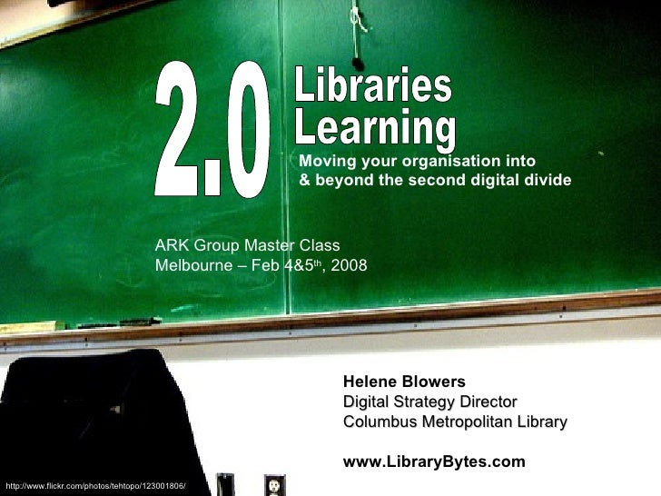 Library 2.0: Melbourne Workshop #1