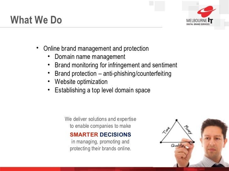 What We Do Slide  Slide  We deliver solutions and expertise to enable companies to make SMARTER  DECISIONS in managing, pr...