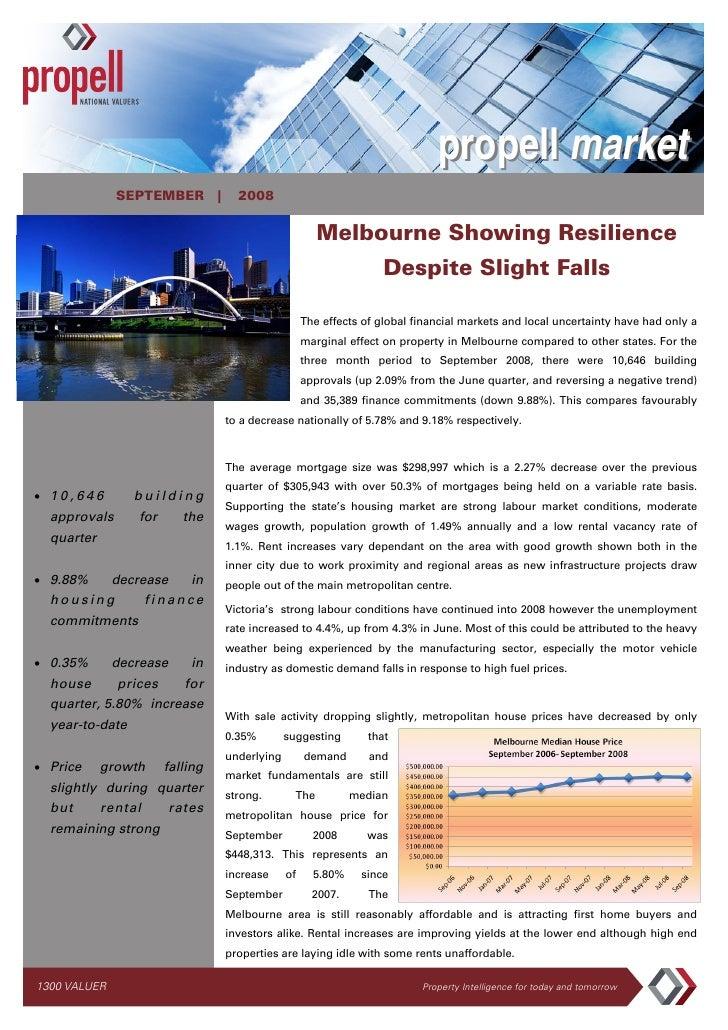 propell market               SEPTEMBER |          2008                                                        Melbourne Sh...