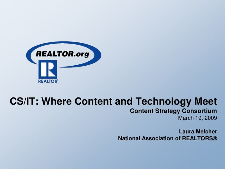 CS/IT: Where Content and Technology Meet