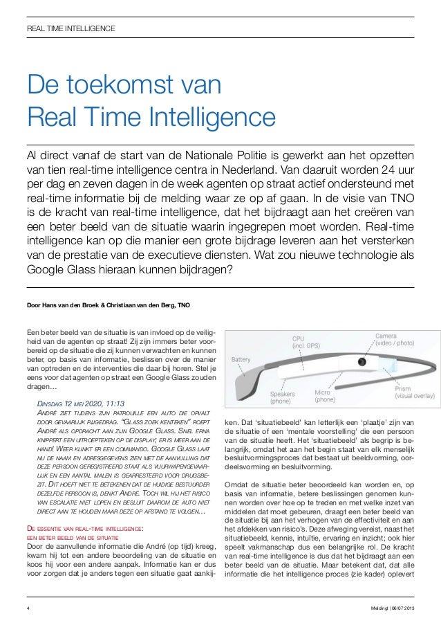 De toekomst van Real Time Intelligence
