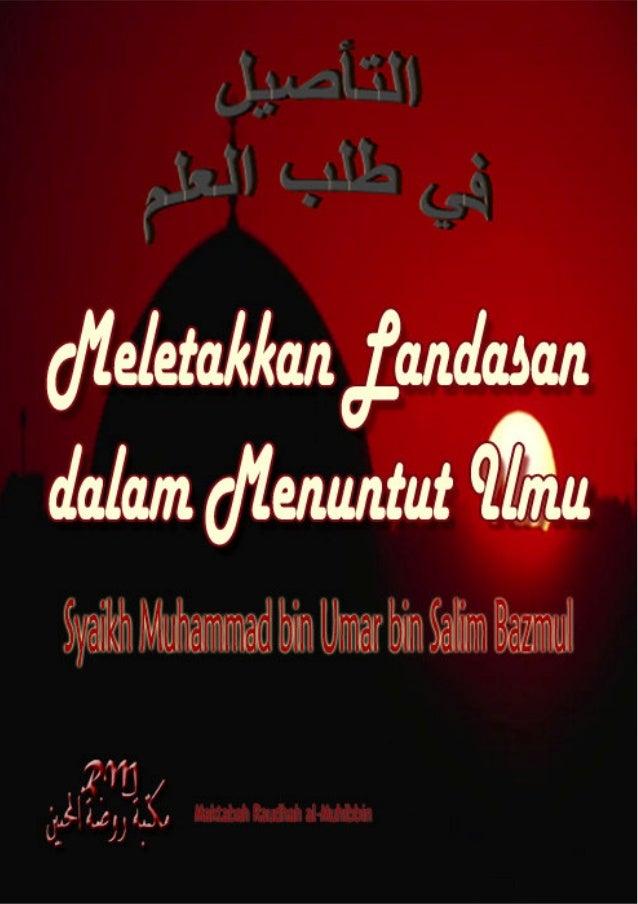 Judul Asli                :        ا ا                              Laying the Foundation in Seeking                    ...