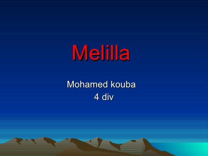 Melilla Mohamed kouba      4 div