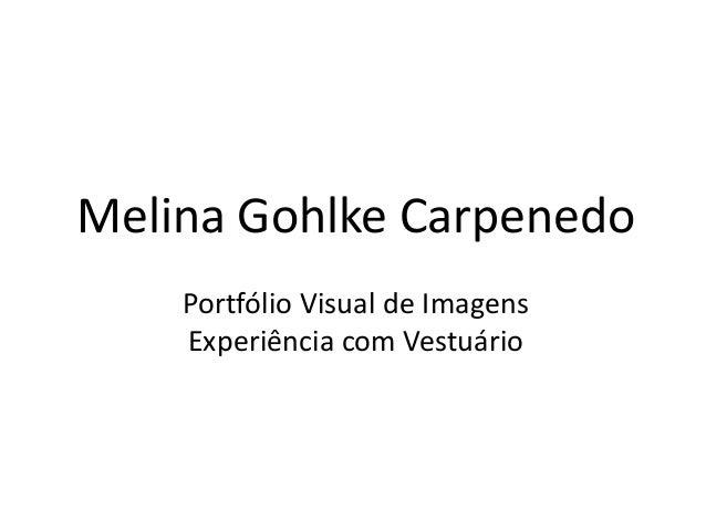 Melina Gohlke Carpenedo Portfólio Visual de Imagens Experiência com Vestuário