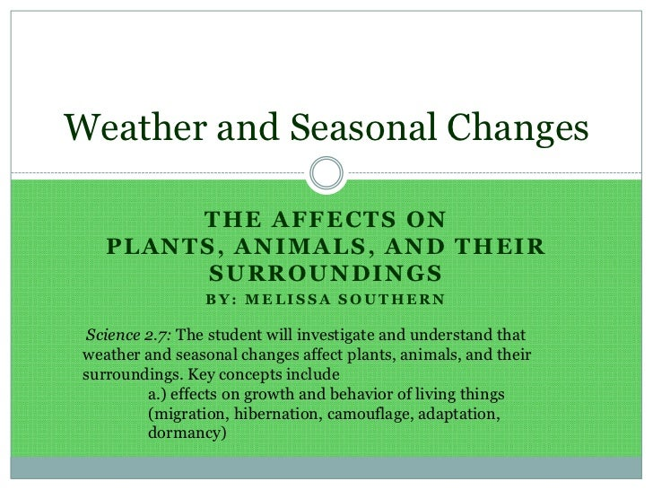Melissa southern weather and seasonal changes