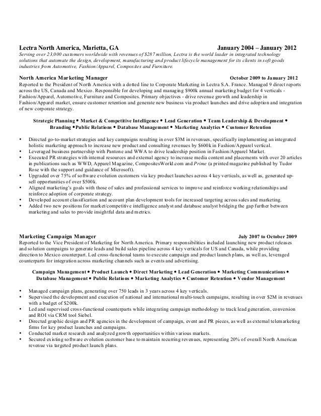 Seasoned sales professional resume
