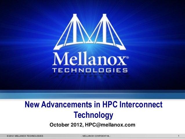 Mellanox hpc update @ hpcday 2012 kiev