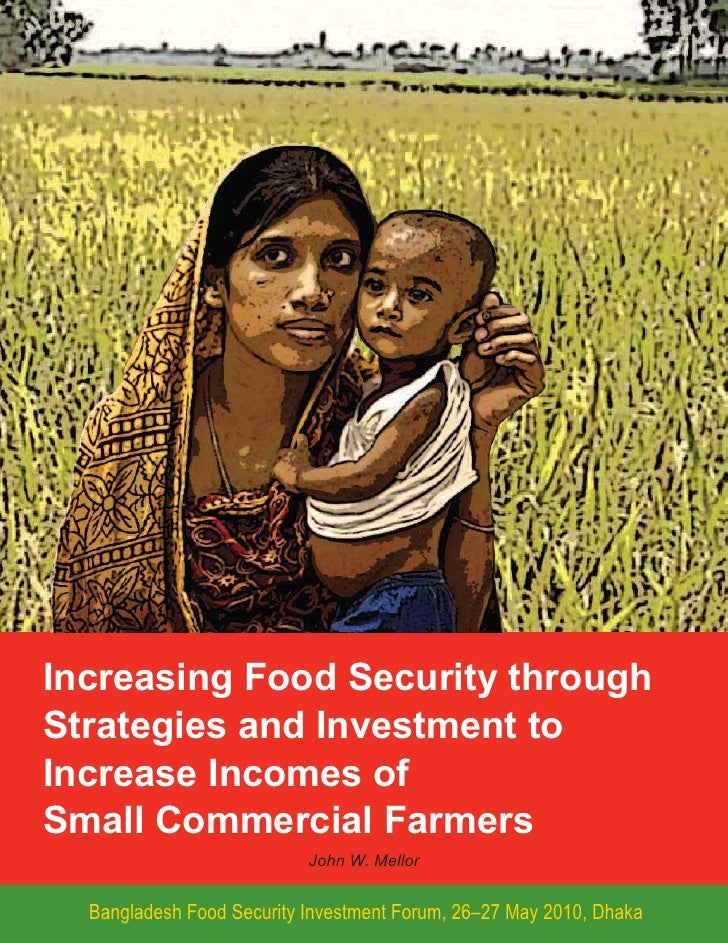 Increasing food security through strategies and investments to increase incomes of small commercial farmers