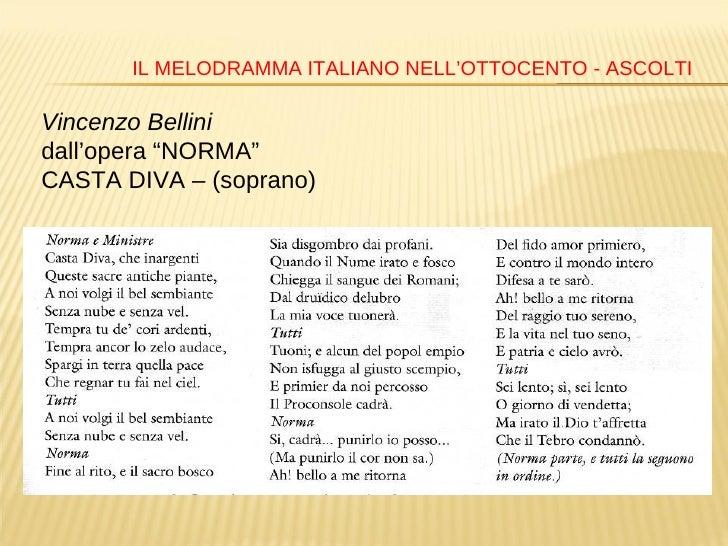 Autori e opere liriche dell 39 800 italiano - Casta diva lyrics ...