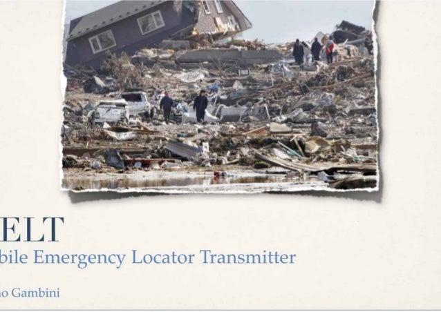 ELTbile Emergency Locator Transmitterno Gambini