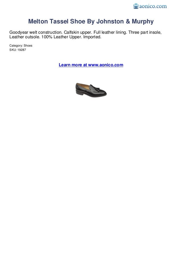 Johnston Murphy Melton Melton Tassel Shoe by Johnston