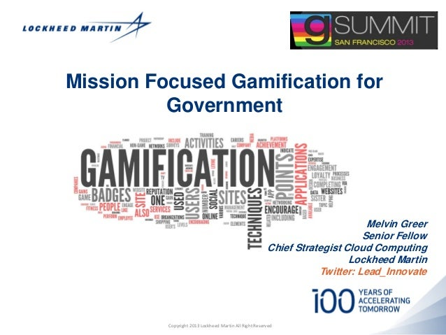 Melvin Greer - Mission-Focused Gamification for Government