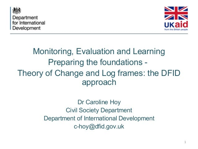 Effectiveness workshop - Monitoring, Evaluation and Learning - Caroline Hoy, DFID