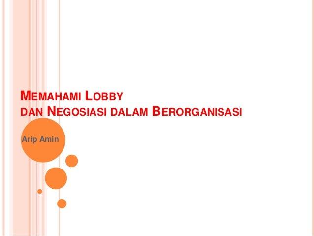 Memahami lobby