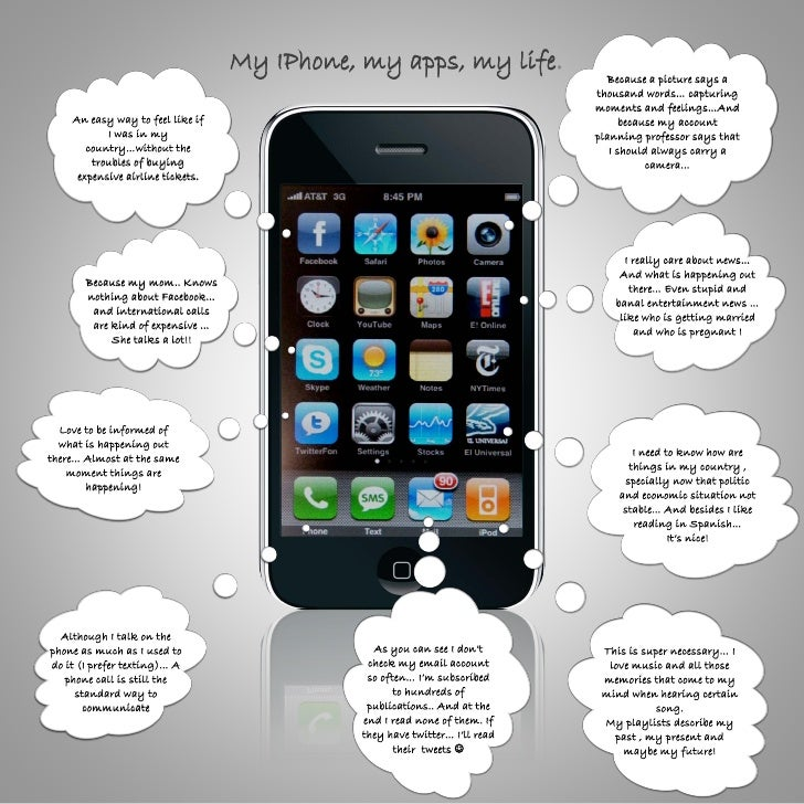 My IPhone, my apps, my life.                                                                               Because a pictu...