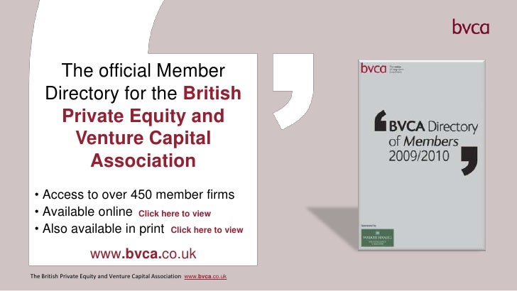 The official Member Directory for the British Private Equity and Venture Capital Association<br /><ul><li> Access to over ...